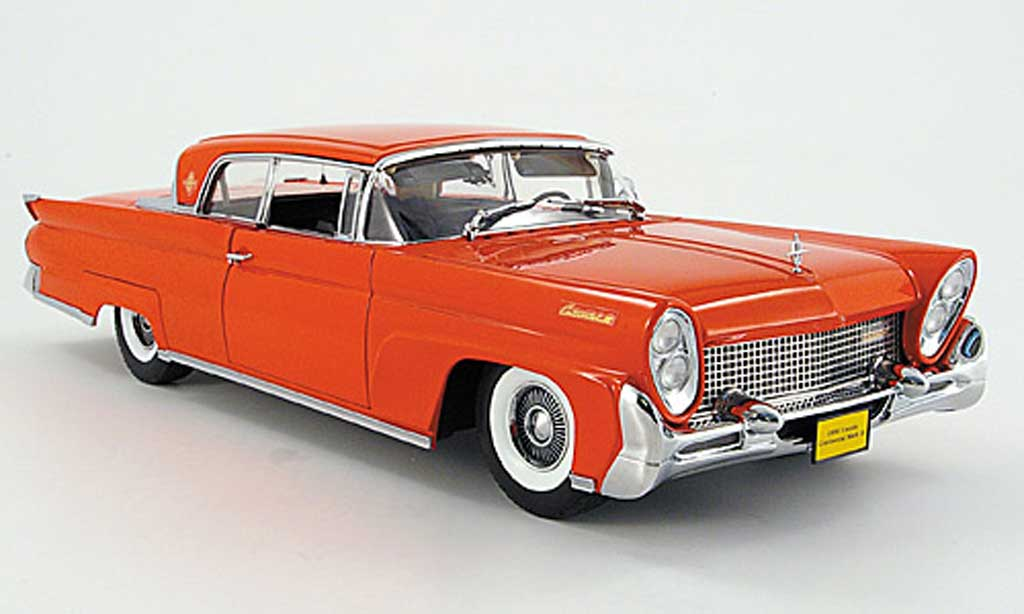 Lincoln Continental 1958 1/18 Sun Star mark iii hard top rouge miniature