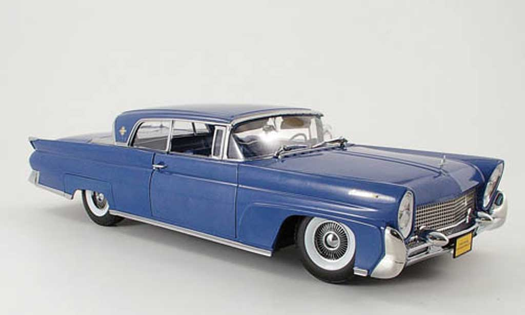 Lincoln Continental 1958 1/18 Sun Star mark iii hard top bleu miniature