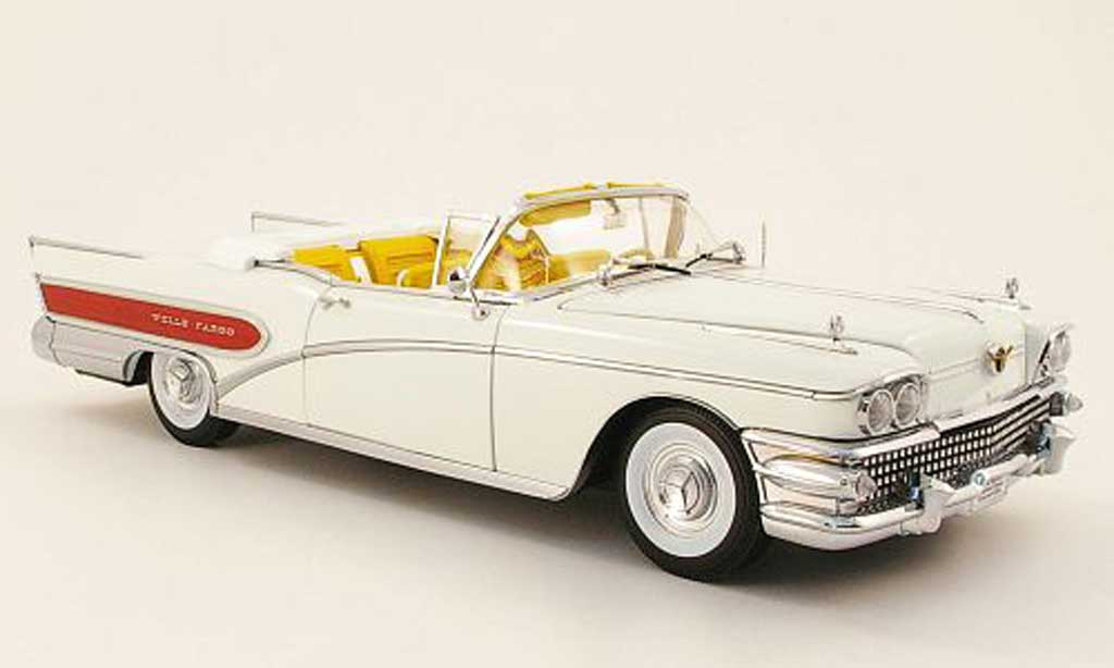 Buick Limited 1/18 Sun Star convertible wells fargo blanche 1958 miniature