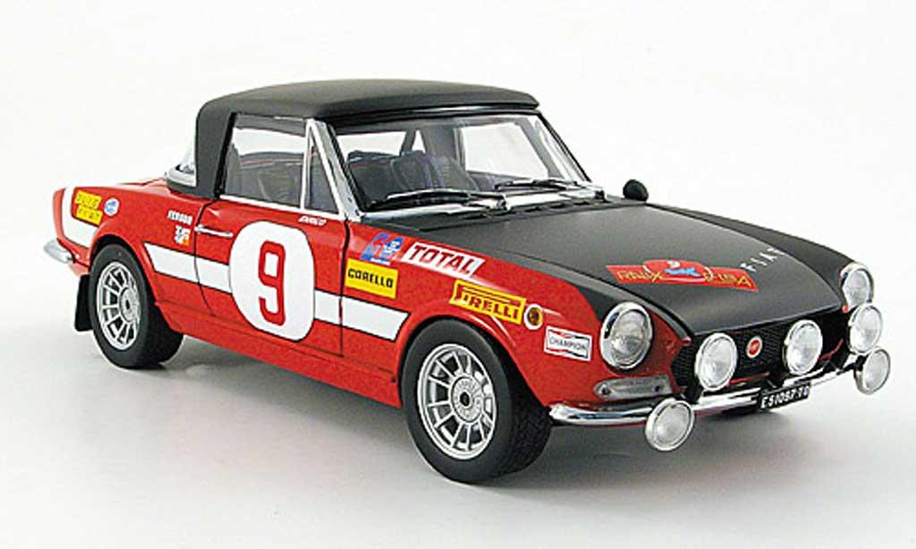 Fiat 124 Abarth 1/18 Sun Star no.9 trombotto/enrico rallye elba 1971 miniature