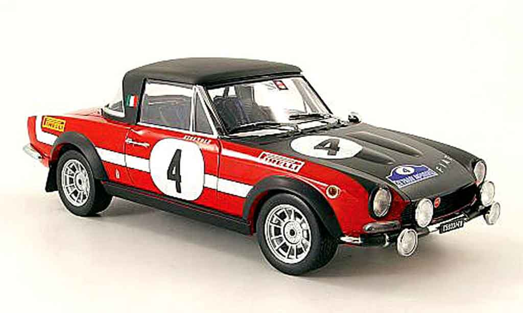 Fiat 124 Abarth 1/18 Sun Star no.4 rallye grece 1972 miniature