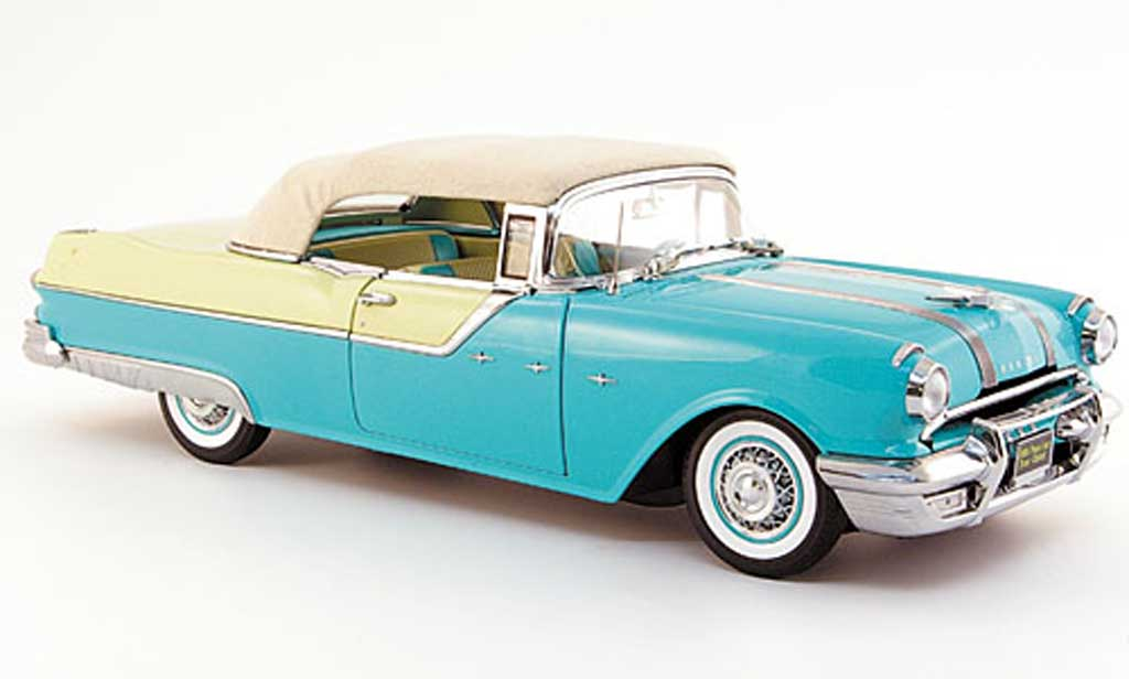Pontiac Star Chief convertible green creme white 1955 Sun Star. Pontiac Star Chief convertible green creme white 1955 miniature 1/18