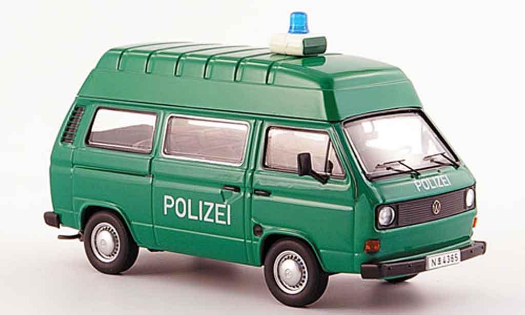 Volkswagen Combi t 3 a hochraumbus police green white Premium Cls. Volkswagen Combi t 3 a hochraumbus police green white Autobus miniature 1/43