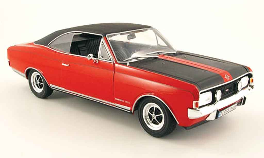 Opel Commodore A 1/18 Revell coupe gs/e rouge/noire 1970