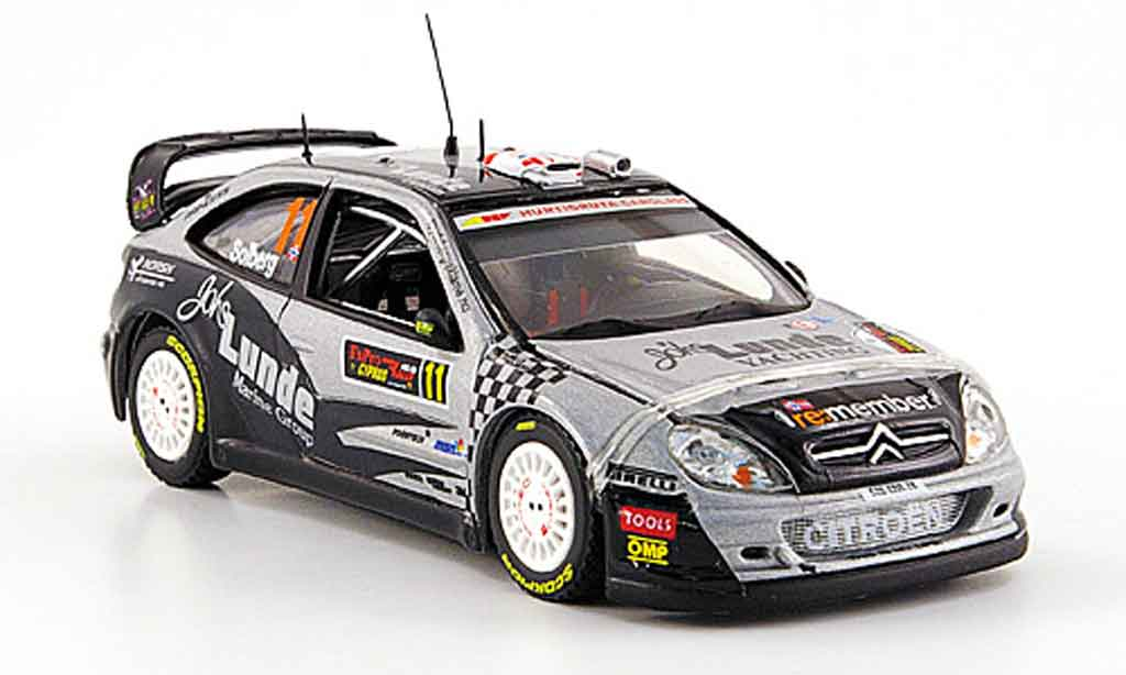 citroen xsara wrc 2009 miniature solberg mills rallye zypern vitesse 1 43 voiture. Black Bedroom Furniture Sets. Home Design Ideas