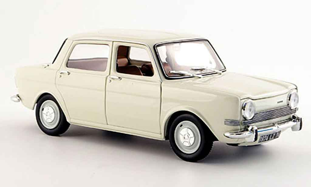 Simca 1000 1/18 Norev ls white 1974 diecast model cars