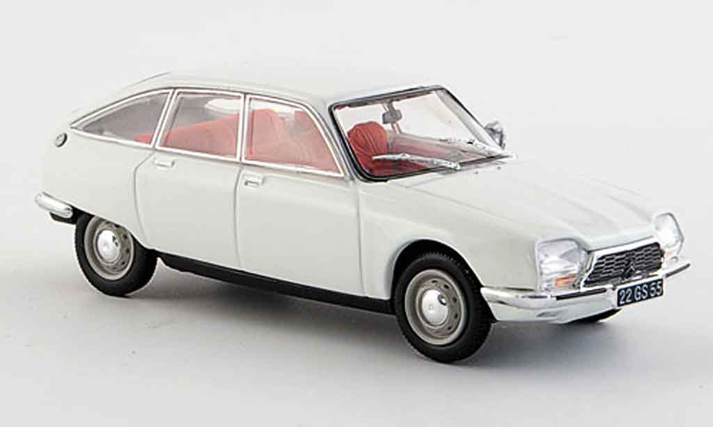 Citroen Gs Creme White 1971 Norev Diecast Model Car 1 43