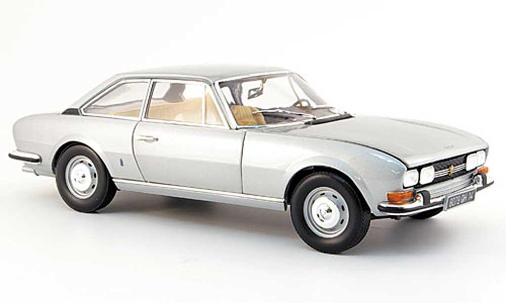 Peugeot 504 coupe 1/18 Norev grise 1971 miniature