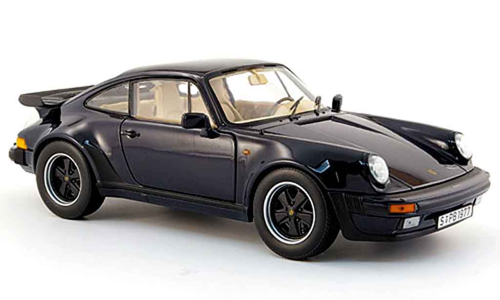 Porsche 930 Turbo 1/18 Norev 3.3l bleu 1985 miniature