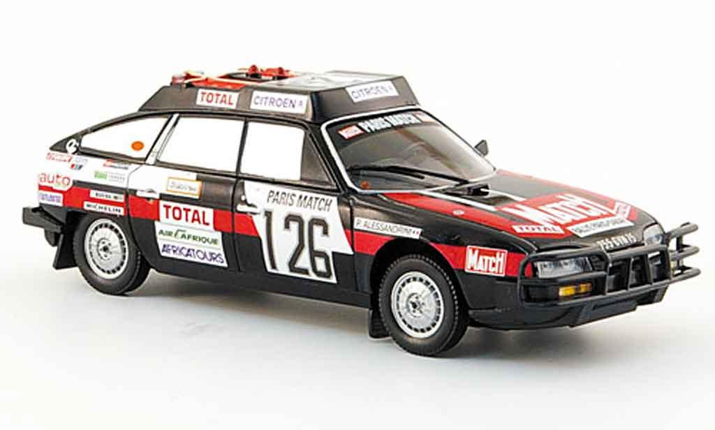 Citroen CX 1/43 Norev 2400 gti no.126 rallye dakar 1981 miniature