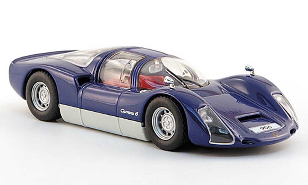 Porsche 906 1965 1/43 Solido Carrera 6 bleu miniature