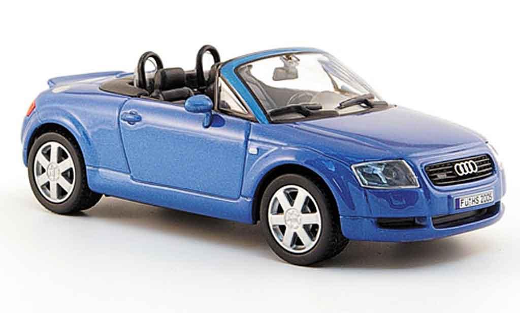 Audi TT Roadster 1/43 Solido Roadster 8N bleu 2004 diecast model cars