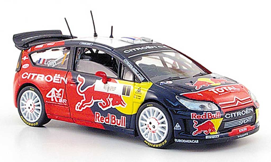 Citroen C4 WRC 2008 1/43 Solido No.1 Red Bull S.Loeb / D.Elena Tour de Corse diecast model cars