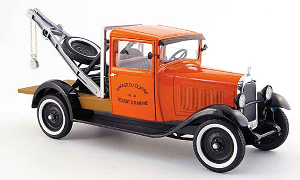 Citroen C4 1930 1/18 Solido abschleppwagen orange/noire miniature