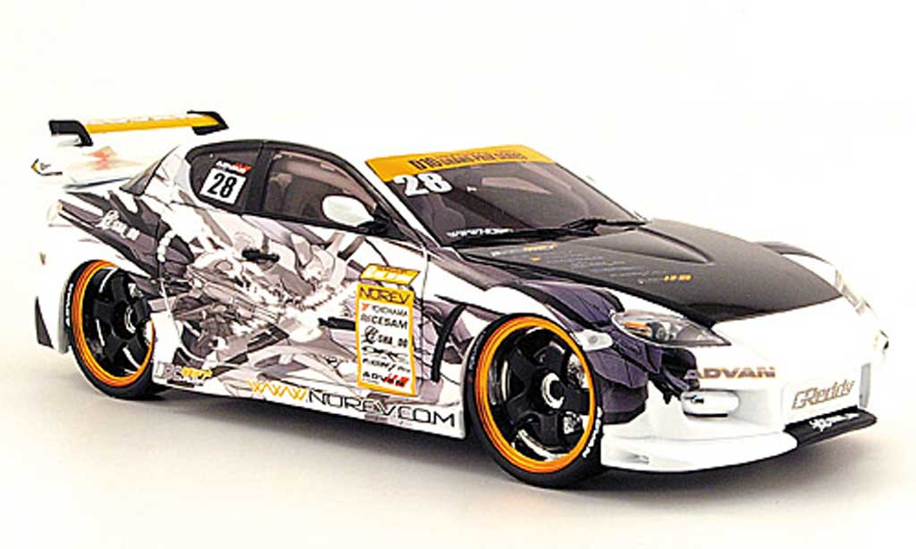 Mazda RX8 1/18 Norev racing miniature