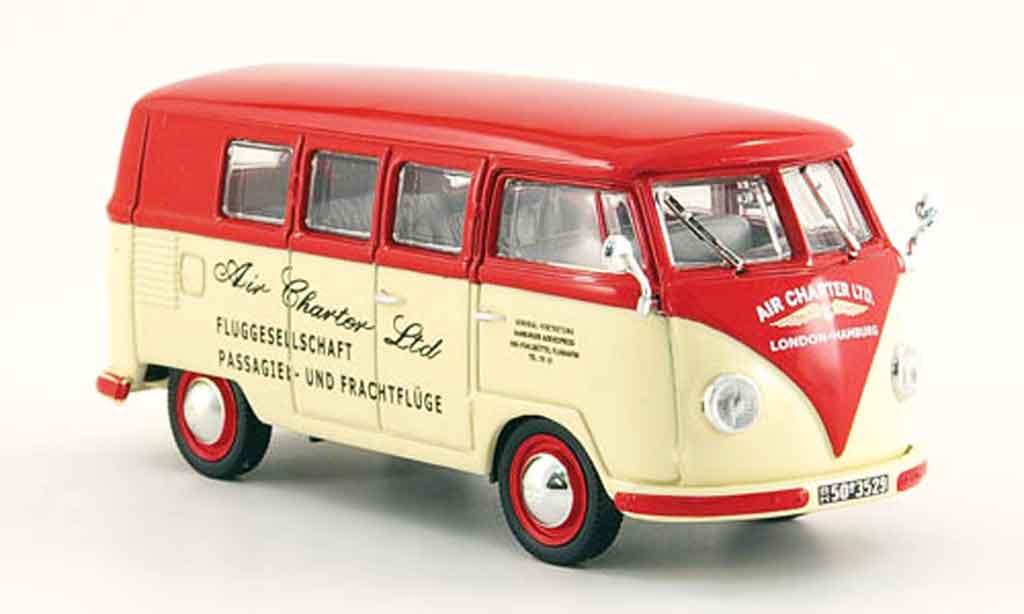 Volkswagen Combi 1/43 Norev t1a bus air charter ltd. blanche rouge 1958 miniature