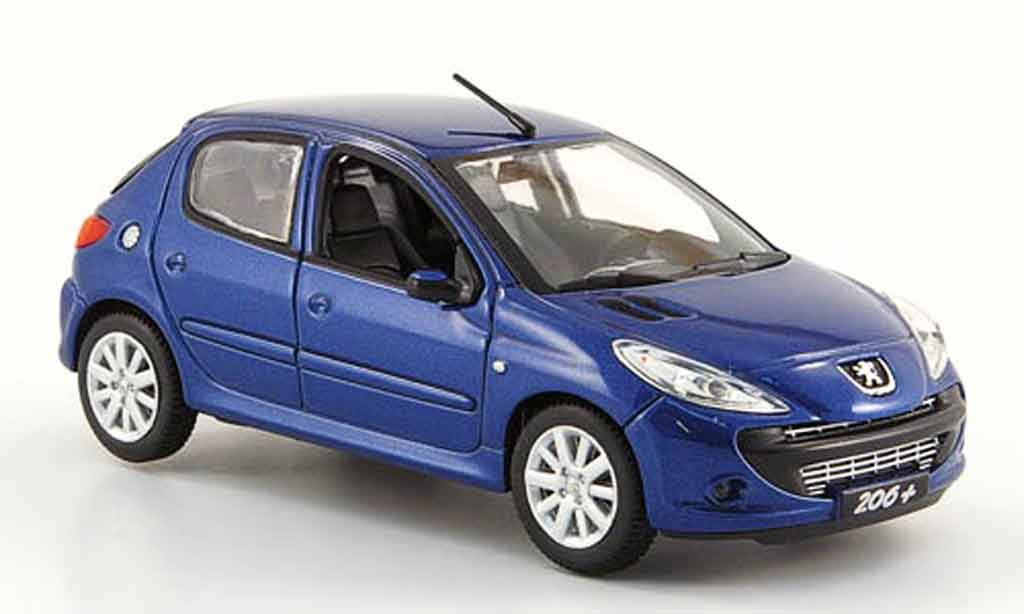 peugeot 206 miniature bleu 2009 norev 1 43 voiture. Black Bedroom Furniture Sets. Home Design Ideas