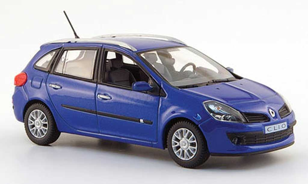 Renault Clio III 1/43 Norev Kombi bleu 2007 miniature