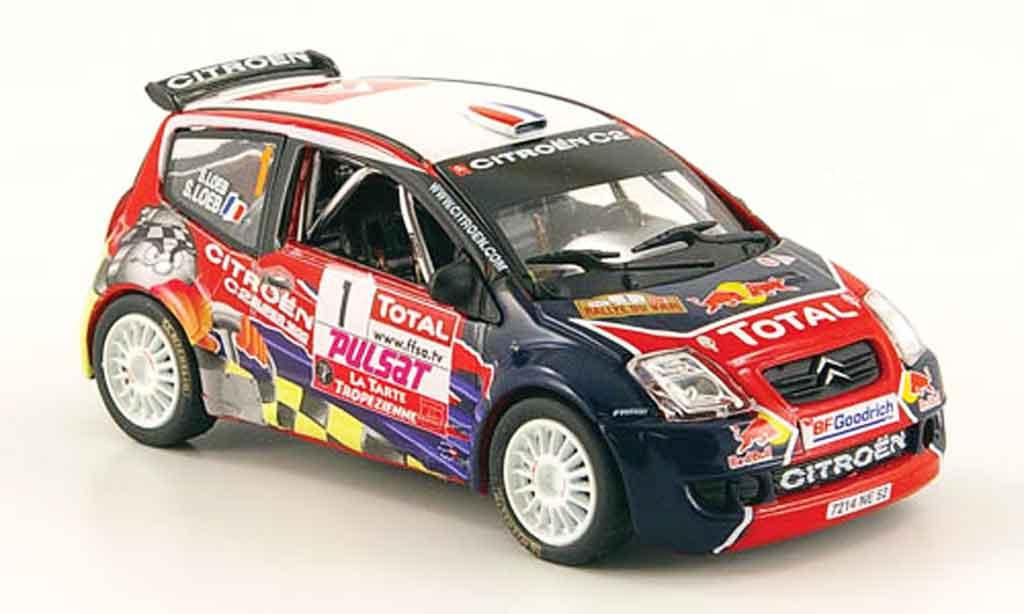 Citroen C2 S1600 1/43 Norev no.1 red bul rallye du var 2008 miniature