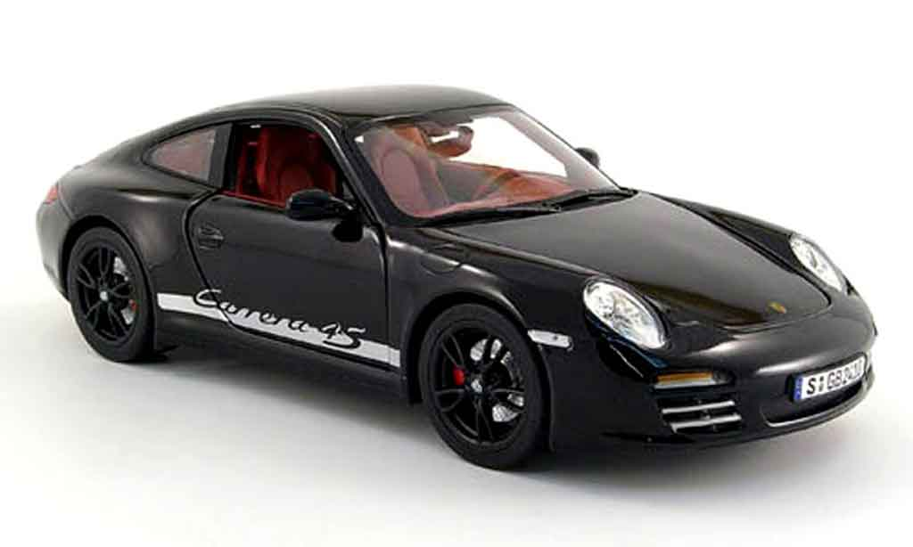 Porsche 997 4S 1/18 Norev black 2008 diecast model cars