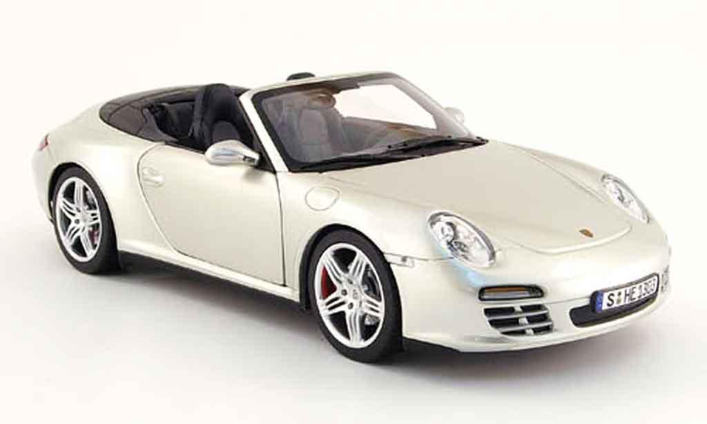 Porsche 997 4S 1/18 Norev cabriolet grey 2008 diecast model cars