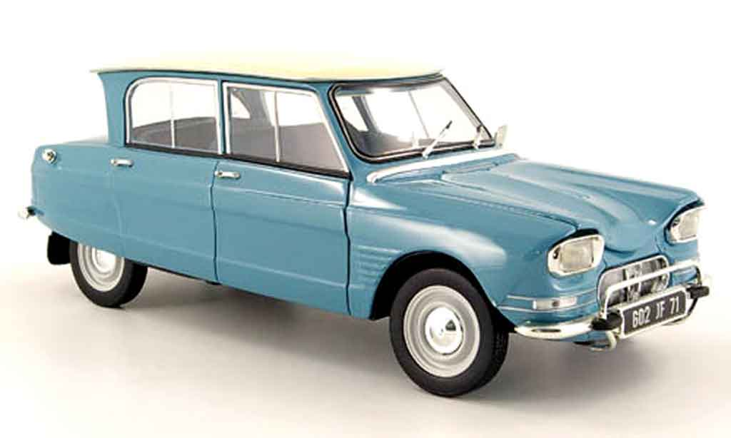 citroen ami 6 miniature bleu blanchees dach 1963 norev 1 18 voiture. Black Bedroom Furniture Sets. Home Design Ideas