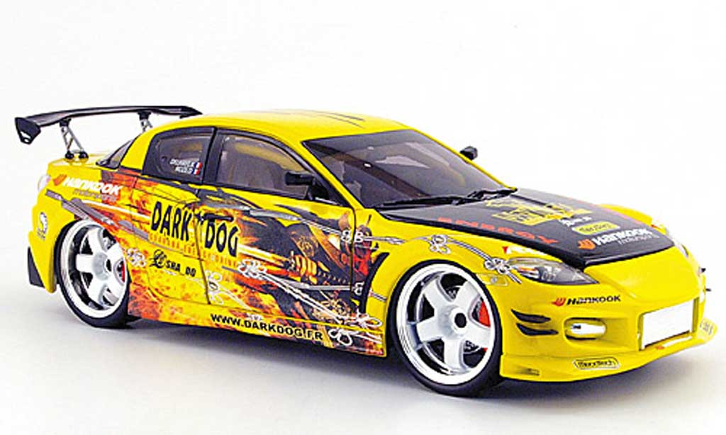 Mazda RX8 1/18 Norev racing dark dog miniature