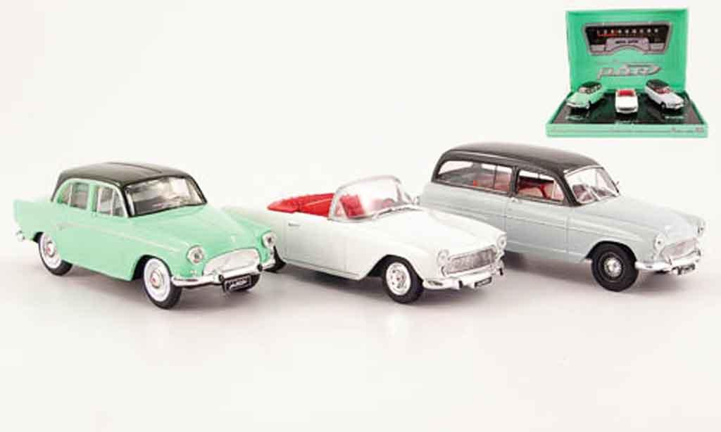 Simca P 60 1/43 Norev 3er limousine cabrio und kombi miniature