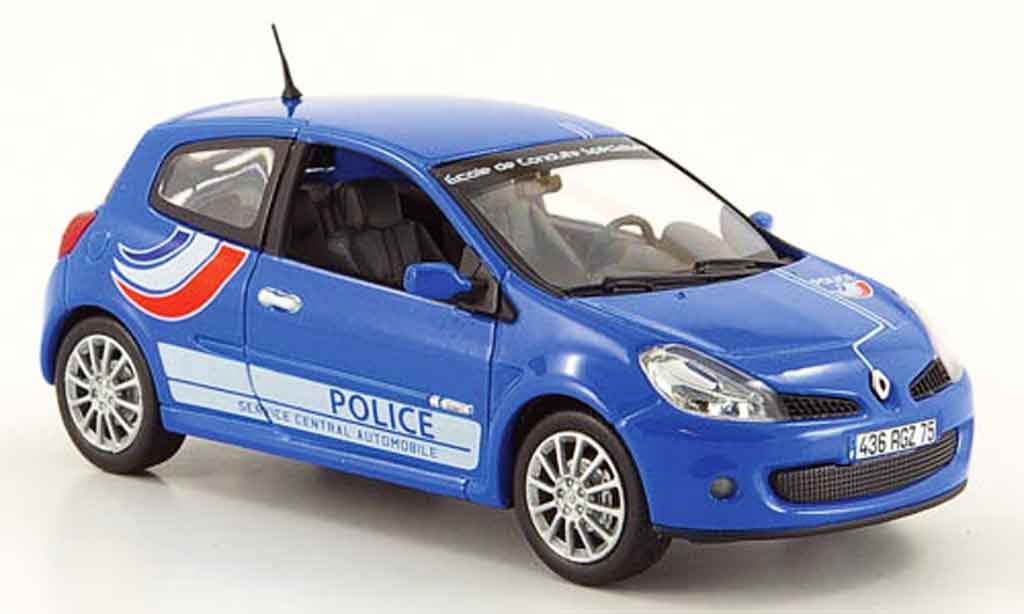 renault clio 3 rs miniature police 2007 norev 1 43 voiture. Black Bedroom Furniture Sets. Home Design Ideas
