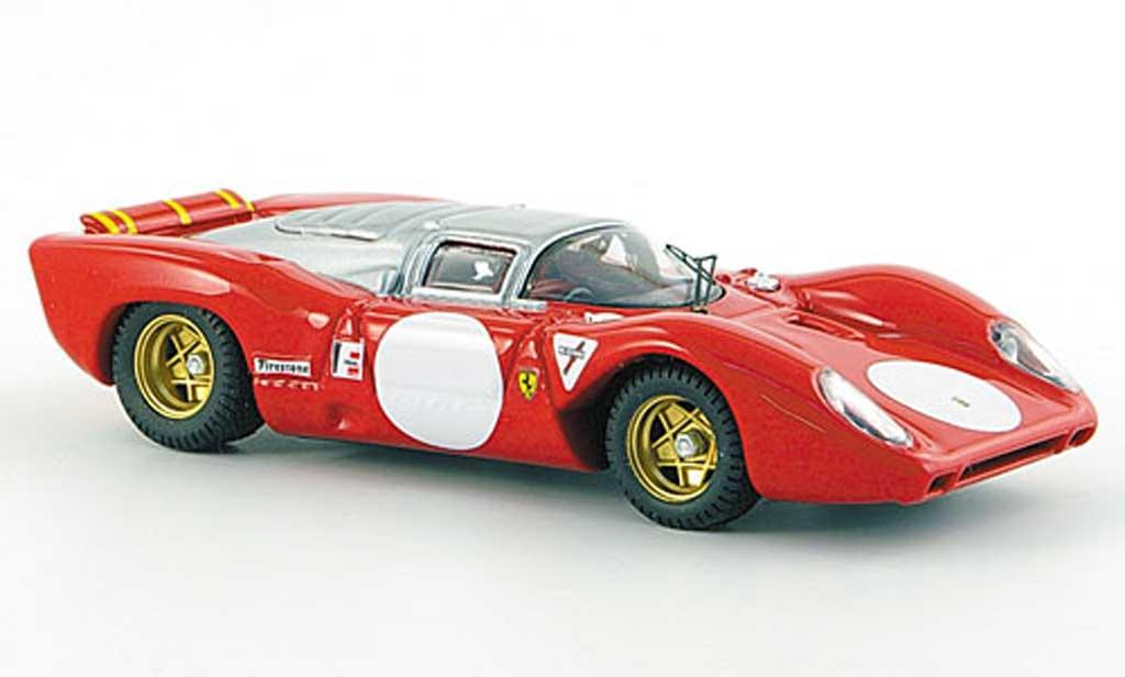 Ferrari 312 P 1/43 Best Coupe Monza rova rouge/grise 1969 miniature