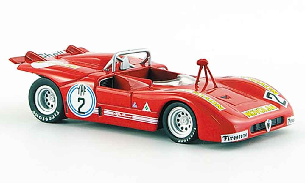 Alfa Romeo 33.3 1972 1/43 M4 tt no.2 c.facetti 1000 km di argentina miniature