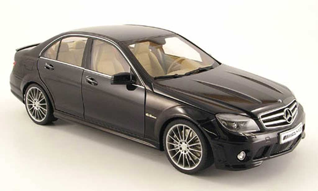 mercedes classe c 63 amg black avec ledersitze 2007 autoart diecast model car 1 18 buy sell. Black Bedroom Furniture Sets. Home Design Ideas