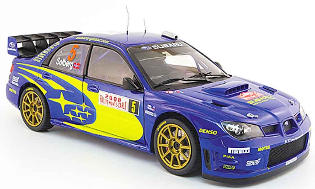Subaru Impreza WRC 1/18 Autoart no.5 solberg millsrallye monte carlo 2008 miniature