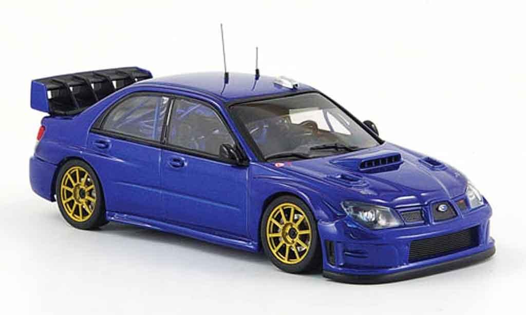 Subaru Impreza WRC 1/43 Autoart bleu plain body version 2008