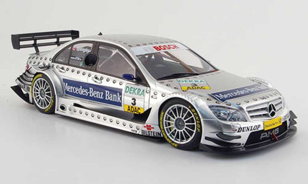 Mercedes Classe C 1/18 Autoart dtm no.3 mercedes-benz bank spengler 2008 miniature