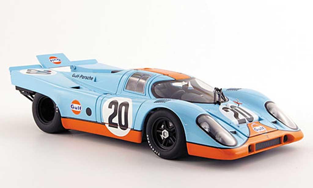 Porsche 917 1971 1/18 Autoart k no20 gulf steve mcqueen 24h le mans miniature