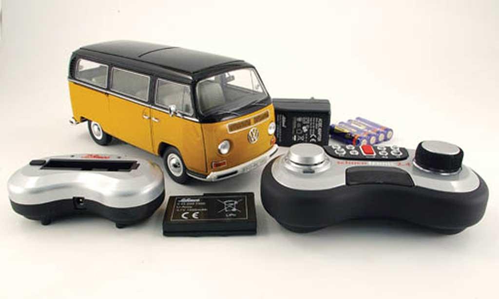 Volkswagen Combi 1/18 Schuco t2a fensterbus jaune/noire miniature