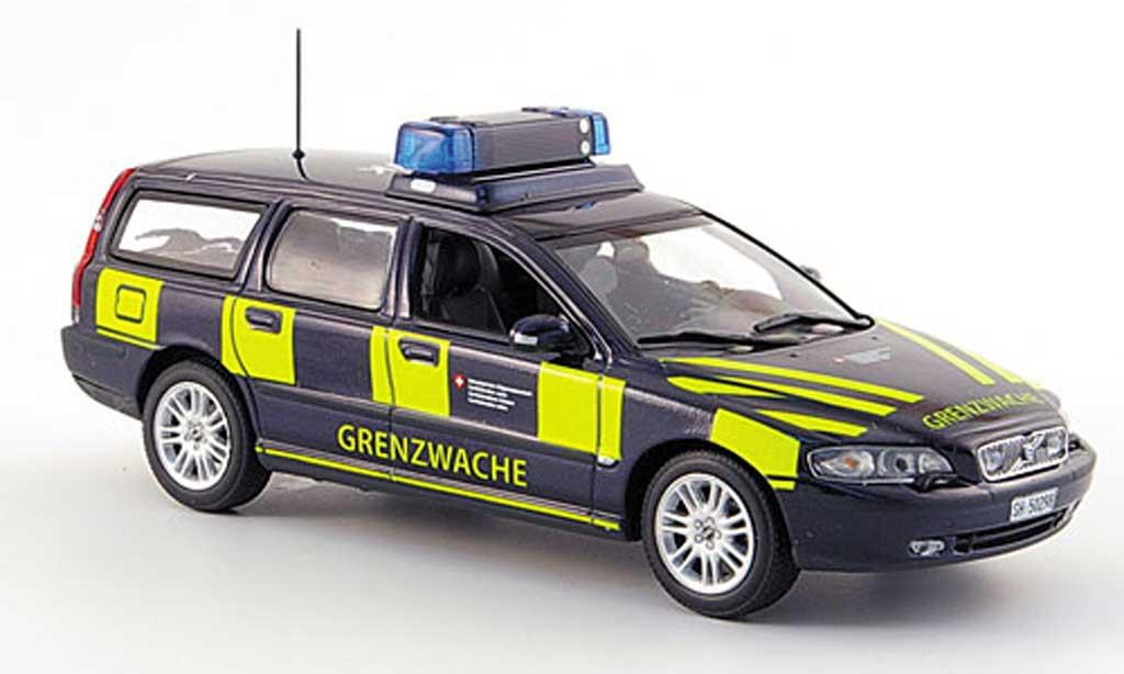 Volvo V70 1/43 Minichamps Break Grenzwache Schweizer Zoll miniature