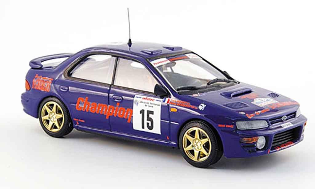 Subaru Impreza 1/43 Trofeu 4x4 no.15 dritter platz tour de corse 1996 miniature