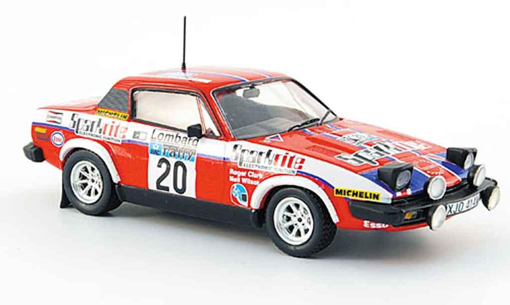 Triumph TR7 1980 1/43 Trofeu No.20 Sparkrite Clark Wilson RAC Rally miniature