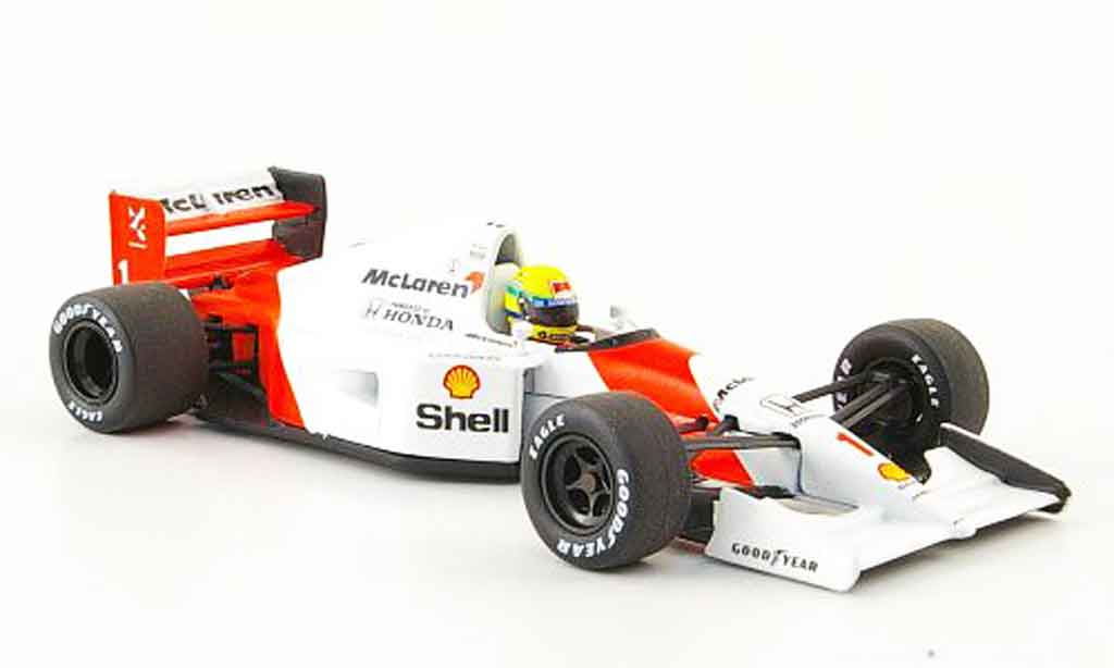 Honda F1 1/43 Minichamps McLaren MP 4 7 No.1 A.Senna Saison 1992 diecast model cars