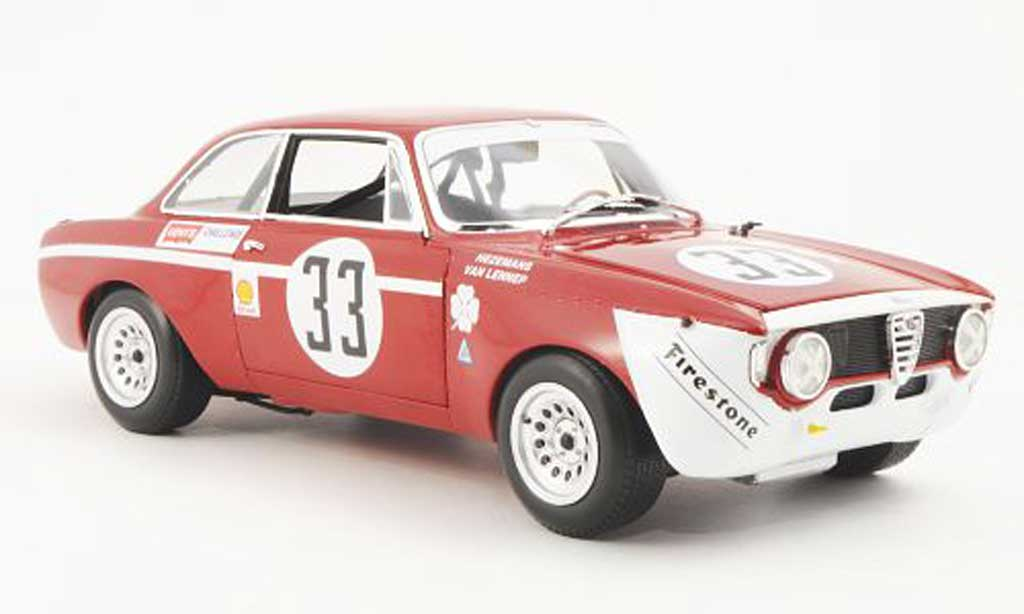 Alfa Romeo Giulia 1300 GTA 1/18 Minichamps Junior No.33 Hezemans/Van Lennep Jarama 1972 diecast model cars