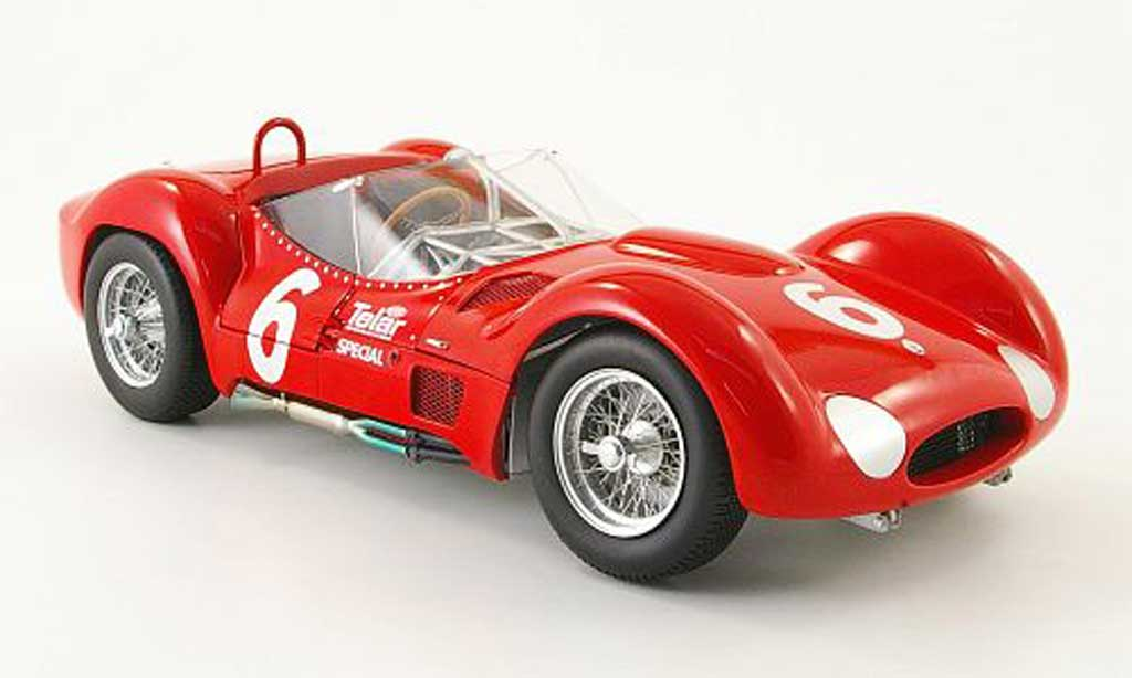 Maserati Tipo 1/18 Minichamps 61 no.6 r.penske meadowdale scca national 1961 miniature