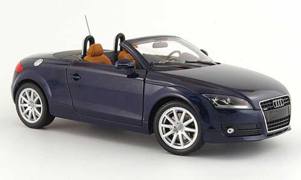 audi tt roadster miniature bleu 2006 minichamps 1 18 voiture. Black Bedroom Furniture Sets. Home Design Ideas