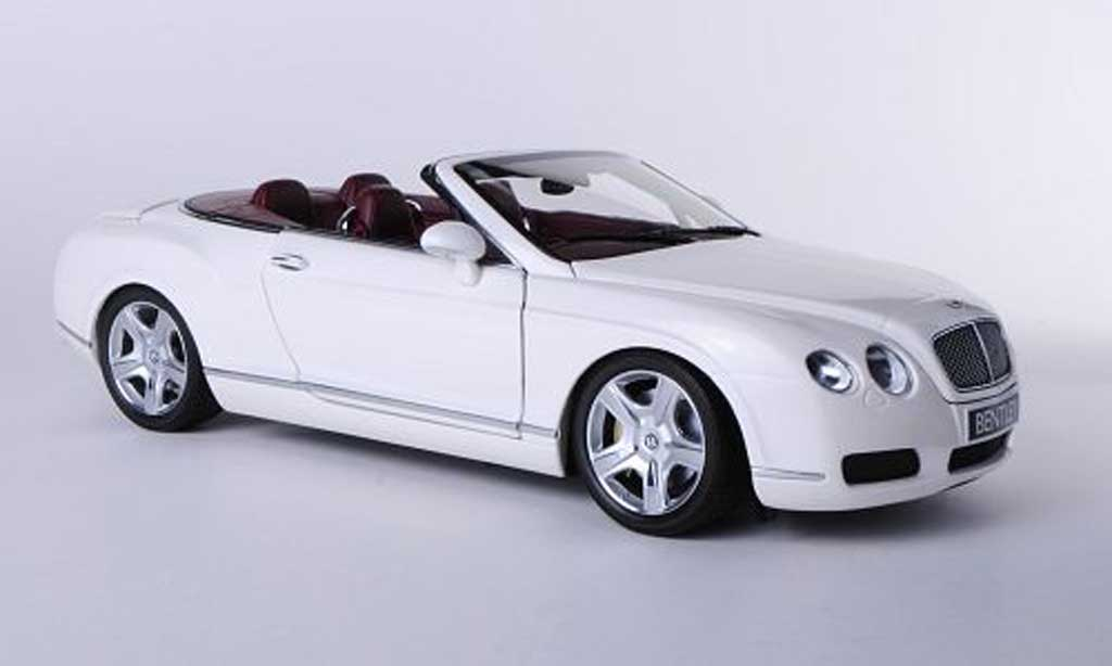 Bentley Continental GTC 1/18 Minichamps blanche 2006 miniature