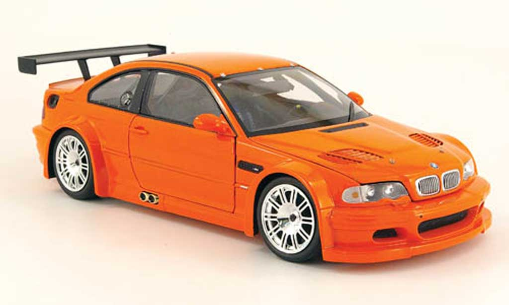 Bmw M3 E46 1/18 Minichamps GTR street orange 2001 diecast model cars