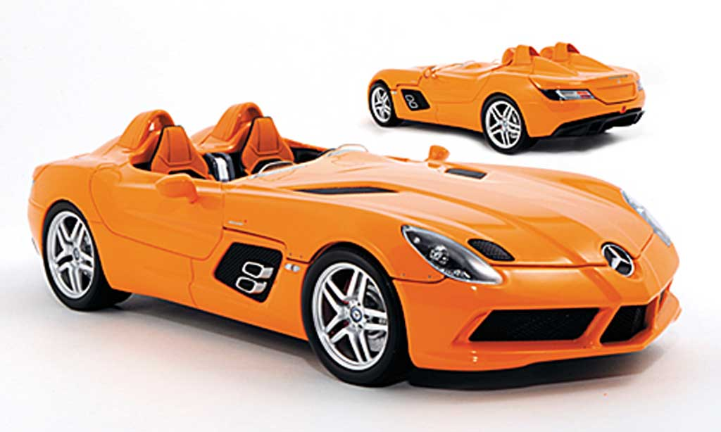 Mercedes SLR 1/18 Minichamps Stirling Moss (Z199) orange miniature