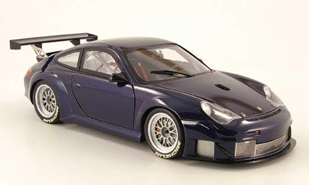 Porsche 996 GT3 RSR 1/18 Minichamps aco basic bleu 2004 miniature