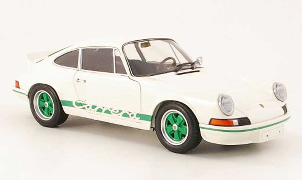 Porsche 911 RS 1/18 Minichamps carrera 27 blanche/verte 1972 miniature