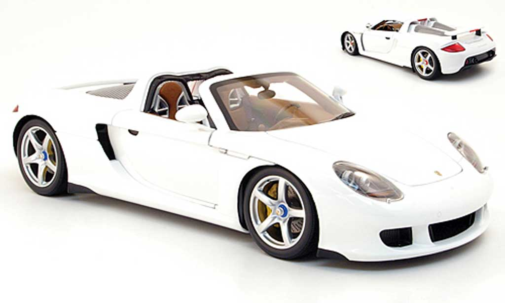 Porsche Carrera GT 1/18 Minichamps white 2003 diecast model cars